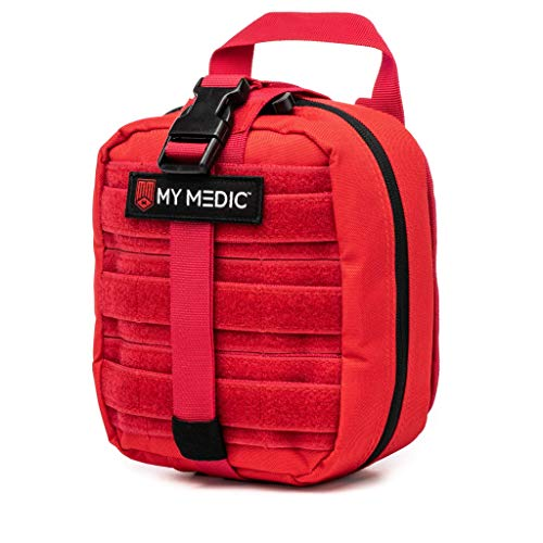 My Medic MyFak First Aid Kit - Water Resistant Bag, Bandages, Burn Aids, CPR Shield, Survival First Aid Kit, Airway, Tourniquet, Stainless Steel Instruments - Basic - Red
