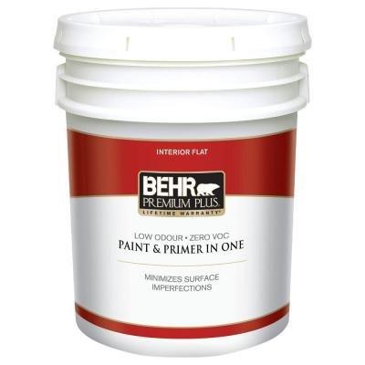 5-gal. Ultra Pure White Zero VOC Flat Interior Paint