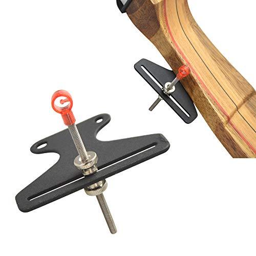 ZSHJGJR Bogenvisier für Recurvebögen Rostfreier Stahl Bow Sight Bogen Anblick Jagdvisier 1 Pin Bogen Visier für Bogenzubehör (Rot)