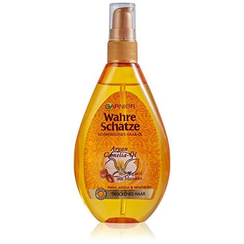 Olio per capelli Garnier Vero tesoro, trattamento intensivo per capelli (con olio di Argan e olio di camelia–per capelli secchi), 1x 150ml.