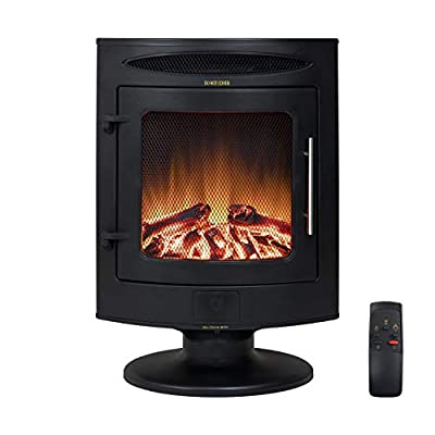 Amberglo Electric 2kW Stove Fire Heater with Remote Control - Black - Portable