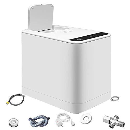 WDSZXH Inteligente Cubo de Basura Hogar, Silencioso Botón Táctil Papel Higiénico Amoladora Procesador, Baño Servilleta Sanitaria Trituradora, para Anciano Niño Adulto