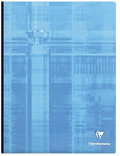 Clairefontaine 9361C - Lote de 3 Cuadernos cosidos (Lomo de tela) A4 MAXI rayado francés (Séyès) de 288 páginas, colores surtidos
