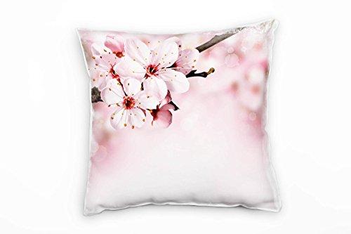 Paul Sinus Art Blumen, Macro, rosa, Kirschblüten, Frühling Deko Kissen 40x40cm für Couch Sofa Lounge Zierkissen - Dekoration zum Wohlfühlen