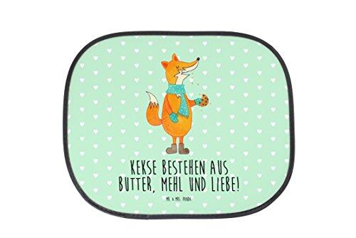 Mr. & Mrs. Panda Auto Sonnenschutz Fuchs Keks - 100% handmade in Norddeutschland - Kunstfaser, Rücksitz, Fenster, Geschenk Weihnachten, Weihnachtszeit, Kinder, PKW, Liebe, Sonnenblende, Küche Deko, Fuchs, Kekse