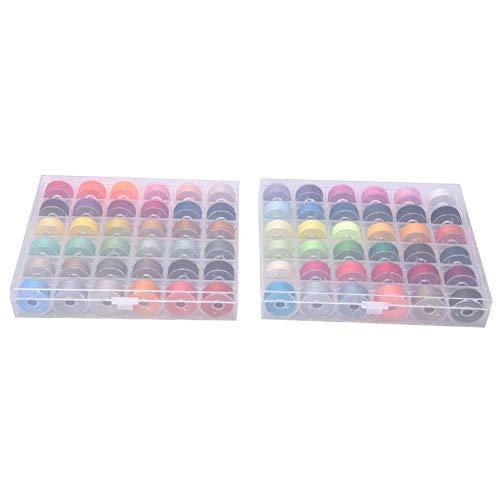 72 kleuren spoeldraad, DIY naai-borduurgaren, met plastic spoelhuis, naaimachine-accessoires, voor naaimachines(Set)