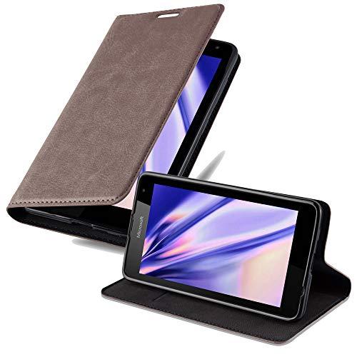 Cadorabo Funda Libro para Nokia Lumia 535 en MARRÓN CAFÉ - Cubierta...