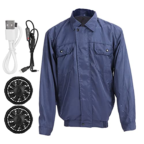 Air Conditioned Clothes Shirt Summer Men Cooling Jacket Vest Work Clothing with Fan Heat Relief Circulating System for Hot Weather(XL)