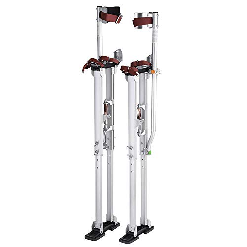 Yescom 36' - 50' Aluminum Drywall Stilts Height Adjustable Lifts Tool for Sheetrock Painting Painter Taping Silver