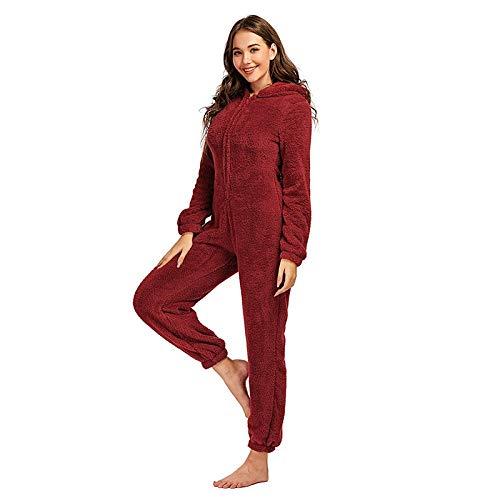 Bonito y elegante forro polar grueso con capucha para mujer, con cremallera de terciopelo, manga larga, ropa...
