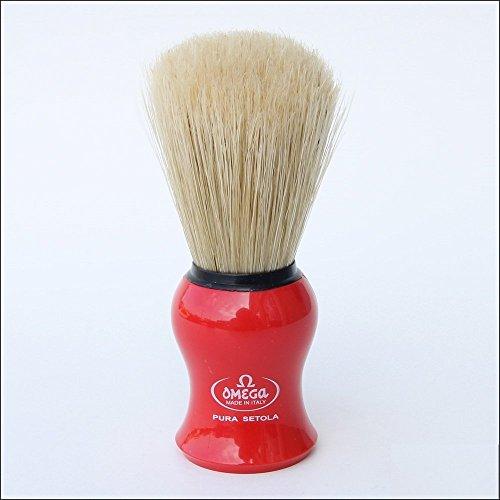 Omega 10065 Pure Bristle Shaving Brush - Blue