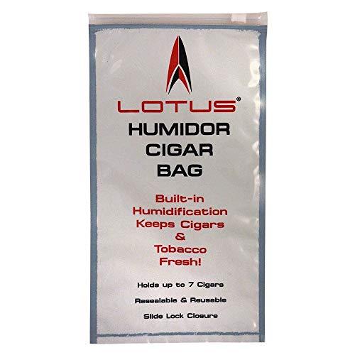 10 Pack Lotus Travel Pouch Cigar Bag Ziplock Humidor Humidifier