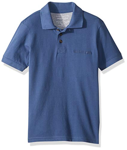 Quiksilver Jungen Tori Pass Polo Youth Knit Crew Poloshirt, Bijou Blue, XS