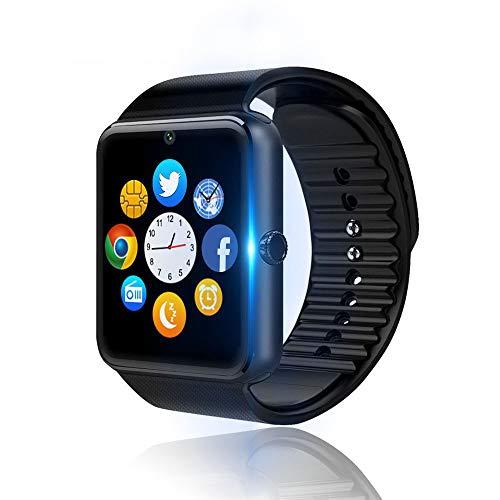 Smartwatch, Reloj Inteligente Android con Ranura para Tarjeta SIM, Reloj Inteligente para Hombres y Mujeres, Reloj Deportivo con Podómetro y Cronómetro, Reloj Inteligente con Cámara (para Android iOS)