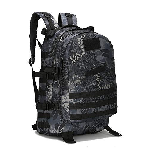 OASIS LAND 40L Outdoor Backpack Bag Rucksack Hiking Camping Tactic Backpacks Climbing Nylon Waterproof-Blacksnake-OneSize