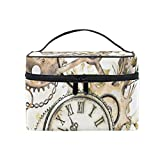 BALII Steam Punk Watercolor Butterfly Cosmetic Bag Travel Makeup Pouch Storage Organiser for...