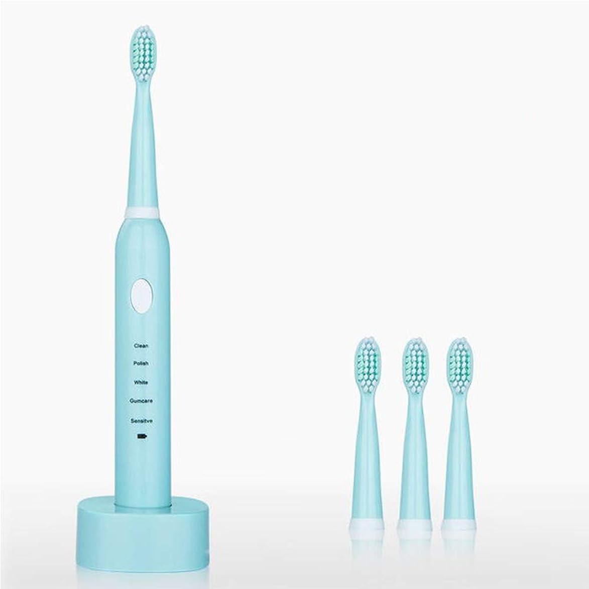 充電電動歯ブラシ、usb充電歯ブラシ音波自動ソフト歯ブラシ防水歯ブラシ用大人,ピンク,1Pcs
