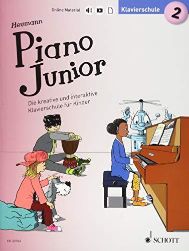 Piano Junior: Klavierschule 2: Die kreative und interaktive Klavierschule für Kinder. Band 2. Klavier. Ausgabe mit verschiedenen Online-Materialien. (Piano Junior - deutsche Ausgabe)