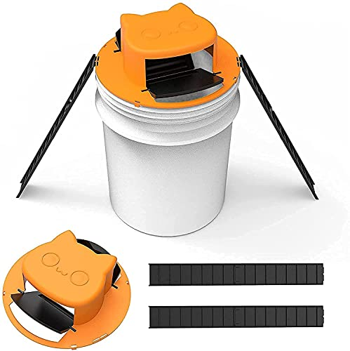 Mouse Trap Bucket-flip n Slide Bucket lid Mouse Trap-Trap Door Style,Multi Catch, Auto Reset Design Balance Mouse Trap for Indoor & Outdoor