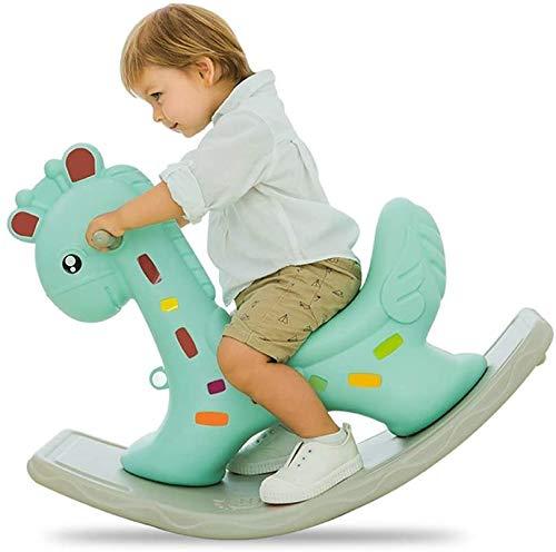 Silla de oscilación del bebé del Caballo Mecedora de plástico Grande de Espesado Juguetes para niños 1-3 años pequeño Carro de Madera