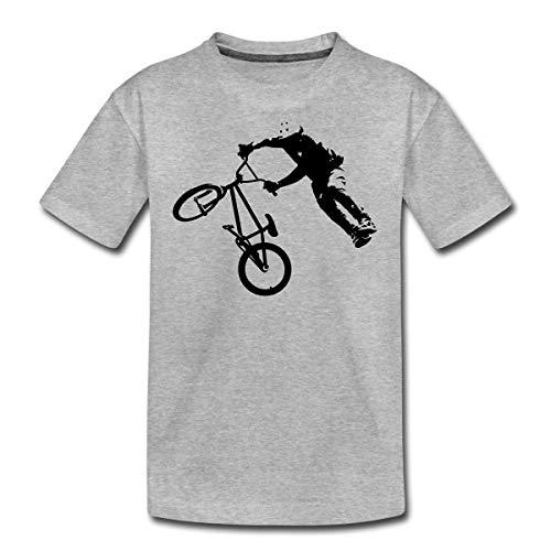 BMX Dirt Jump Teenager Premium T-Shirt, 158-164, Grau meliert