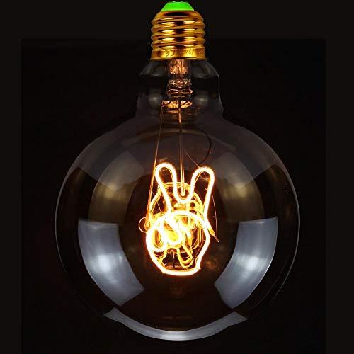 TIANFAN Vintage Gloeilampen Ledlamp 4Watts Dimbaar Gebaar Ja Letter Decoratieve Gloeilampen 220 / 240V E27 Tafellamp (Hanglamp)
