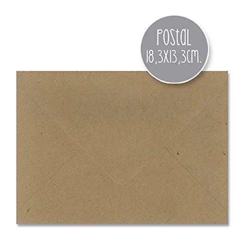 sobres KRAFT boda - varios tamaños - 110gr (18,3x13,3cm POSTAL) 25 und.