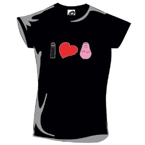Barbapapa - Camiseta - para mujer negro S