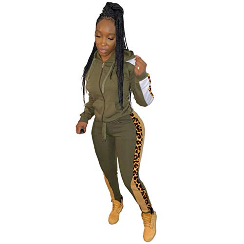 Buy Missli Women's Sexy 2 Piece Outfits Long Sleeve Patchwork Hooded Jacket Pants Tracksuit Set