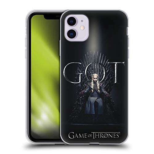 Head Case Designs Officially Licensed HBO Game of Thrones Daenerys Targaryen Season 8 for The Throne 1 Soft Gel Case Compatible with Apple iPhone 11