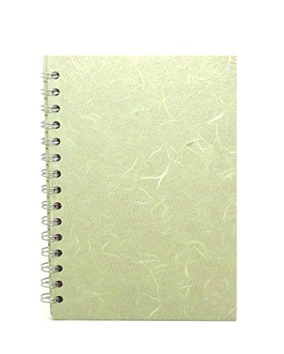 Pink Pig Posh Silk Pig - Cuaderno de dibujo (A5, papel blanco, formato vertical), color verde pálido