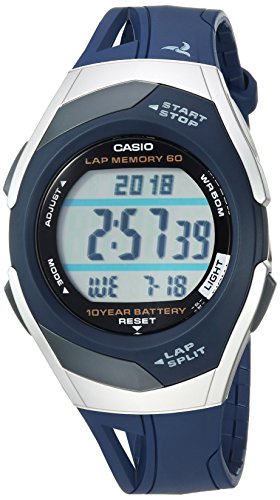 Casio Men's Runner Quartz Running Watch with Resin Strap, Black, 18.5 (Model: STR-300C-2VCF)