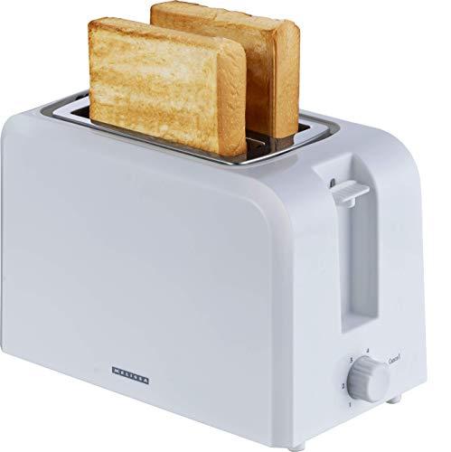 Melissa 16140121 Toaster 2 Scheiben Brötchenaufsatz 6 Bräunungsstufen 750 Watt weiß