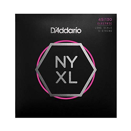 D\'Addario NYXL45130 Nickel Wound Bass Gitarre (5-Saite, Regular Light, 45-130, Long Scale)