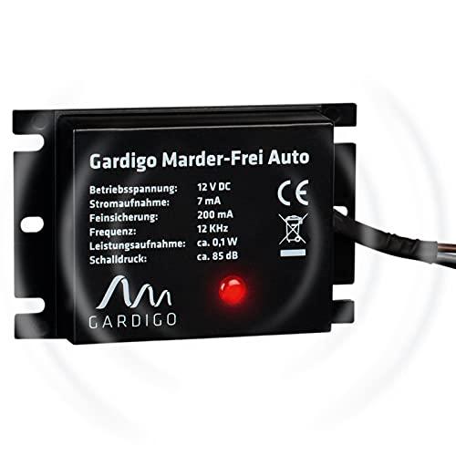 Gardigo Marder-Frei Auto / KFZ, Marderschreck, Anschluss an 12V Autobatterie, Marderschutz, Marderabwehr