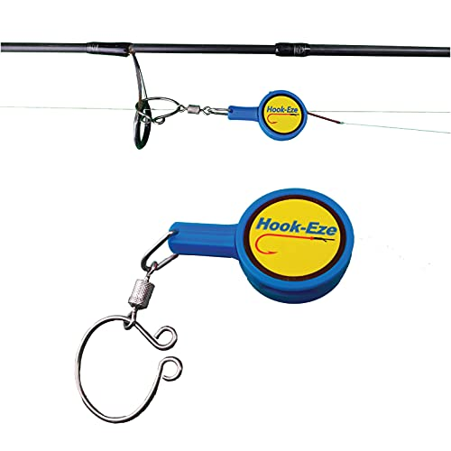 HOOK-EZE Fishing Knot Tying Tool for Fishing Hooks All in One – Cover Hooks on Fishing Rods - Line Cutter - for Saltwater Freshwater Bass Kayak Ice Fishing