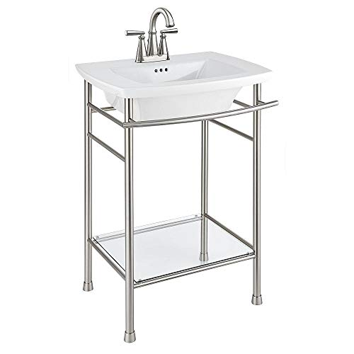 Product Image of the American Standard 0445004.020 Edgemere 4' Centers Sink Top, 4', White
