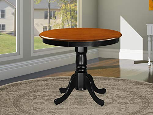 ANT-BLK-TP Antique Table 36' Round with Black and Cherry Finish