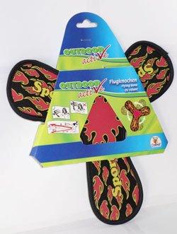 Bavaria Home Style Collection Flugknochen Outdoor Active ca. 25 cm / weiches Material Outdoor Flug Bumerang Boomerang ideal für den Strand