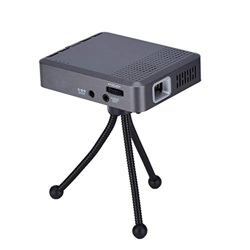 fosa Mini Portable Projector 2.4G/5G WiFi Control HD DLP Micro Projector 30-120in Projection Mini Home Projector with Tripod and Remote Supprots USB TF Card HDMI Bluetooth(8G)