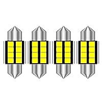 for マツダ23 5 6 2012 2013 2014 2015、4pcs 31mm Led Festoon Car Interior Light Lamp DE3423 DE3175 C5W Trunk Dome Map Bulb Light