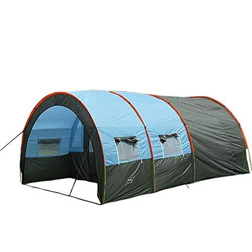 Générique Arongbc Grande Tente de Camping en Toile imperméable en Fibre de Verre pour 4 8 Personnes, Bleu