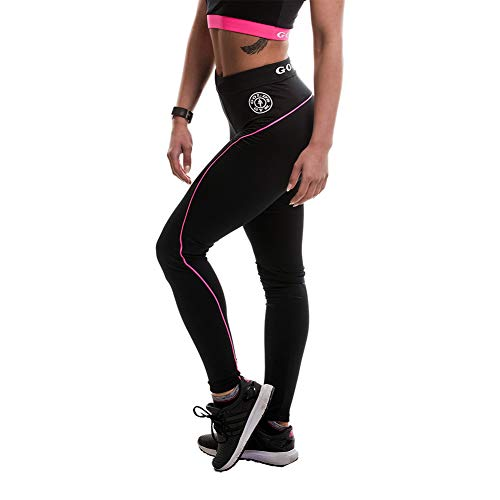 Gold's Gym 2017 Ladies Fitness Compression Gym Yoga Leggings Black/Turquesa Grande