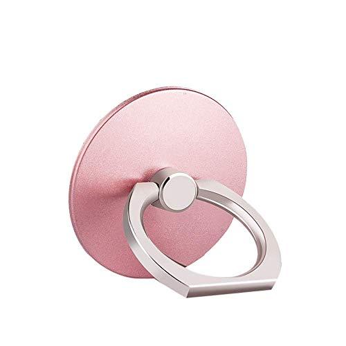 ISKIP Soporte de anillo de metal para teléfono móvil, rotación de 360 grados y soporte universal para teléfono inteligente para casi todos los teléfonos/almohadilla (oro rosa)