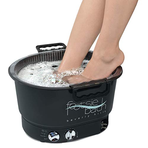 Footsie Bath Footbath Plus Spa, 4-Setting Switch, 30 Min Timer, Temperature Control, with Tray and 5 Liners …