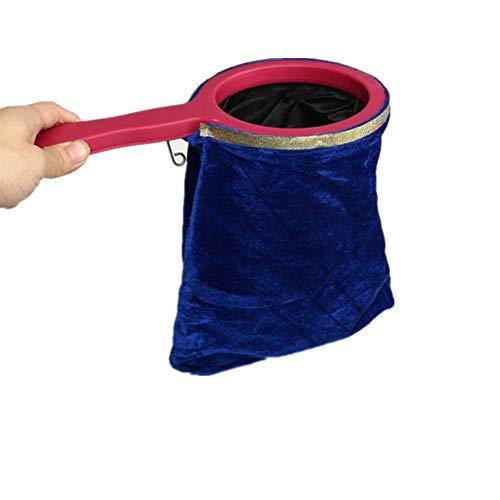 HerbestsMagic Change Bag, Magic Trick Prop Tricks Bag Magische Requisiten Zaubertrick Anfänger mit einem Kunststoffgriff,Machen Dinge Verschwinden,Austausch-Requisit zum Zaubern
