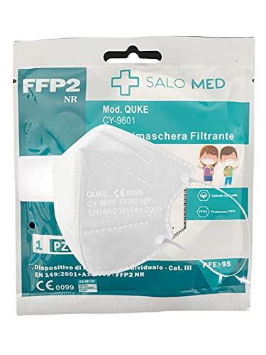 SALO MED - 20 Mascarillas FFP2 Tamaño Pequeño [Certificadas y Homologadas CE 0099 ] Desechables - XS Pequeñas - 5 Capas - Pack 20