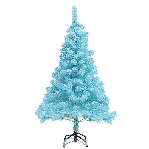 PJDOOJAE Christmas Blue 1.8m Cedar Flocado Paquete De Árboles De Navidad Ins...
