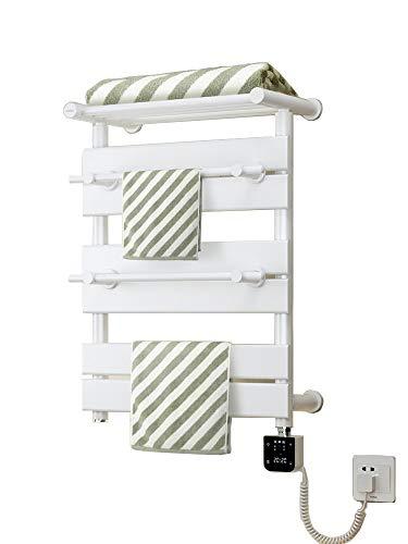 MTX-Racks handdoekverwarmer platpaneel badkamerverwarming, aan de muur bevestigde radiator met thermostaat voor badkamer antraciet ruimtebesparend - 660 x 490 mm modern design