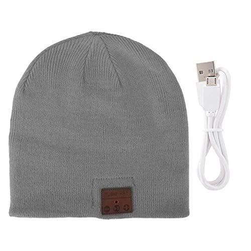 Auriculares inalámbricos BT Sombrero BT Music Hat Full-Duplex para Calentar(Grey)